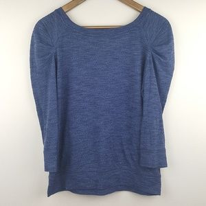 Free People Blue Ruched Top Size S/P